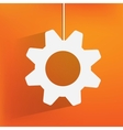 Settings web icon flat design vector image