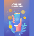 shopping online poster vector image vector image