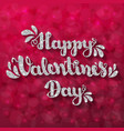 silver glitter lettering happy valentines day on vector image vector image