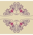 Soft ornate background with hearts vector image vector image