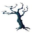 spooky halloween tree vector image vector image