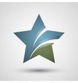Star logo design vector image vector image