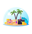 successful characters enjoying life in comfort vector image vector image