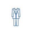 suit line icon concept suit flat symbol vector image vector image