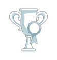 trophy rosette award success honor icon vector image vector image