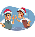 two men fighting on christmas over political views vector image vector image
