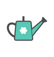 watering can colorful icon garden tool vector image vector image
