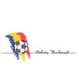 welcome to bucharest soccer football banner vector image vector image
