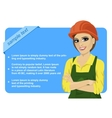 woman with safety hard hat vector image vector image