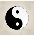 Ying Yang japanese tattoo vector image