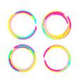 circle brush frame set of color circle vector image