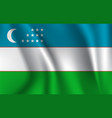 3d waving flag uzbekistan vector image vector image