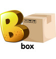 A letter B for box vector image vector image