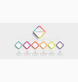 abstract 3d infographic template with 6 steps for vector image vector image