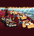 airport lounge scene vector image vector image