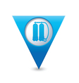aqualung symbol on map pointer blue vector image vector image