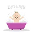 Baby bathing bath vector image