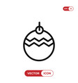 bauble icon vector image vector image