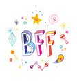 bff best friends forever vector image vector image