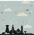 Birds over a city vector image