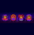 burger cafe set neon signs fastfood burger vector image vector image