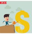 Business man watering money vector image vector image