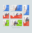 business social media post design template vector image vector image