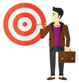 Businessman with target board vector image