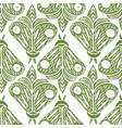 butterflies seamless pattern linocut handmade vector image