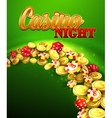 Casino night with roulette vector image