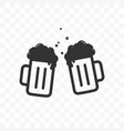 cheers beer toast icon on transparent background vector image