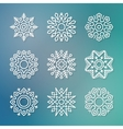 Christmas flat line snowflakes vector image vector image
