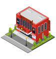 cinema building isometric view vector image vector image