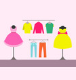 clothing store women items vector image