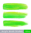 Colorful watercolor brush strokes on canvas vector image vector image