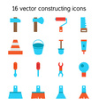 Constructing and building icons set vector image