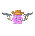 cowboy easter egg cartoon clipping on path vector image vector image