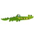 cute cartoon crocodile character vector image vector image