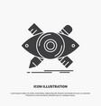 design designer sketch tools icon glyph gray vector image vector image