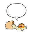 digitally drawn eggs and speech bubbles design vector image vector image