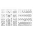 domino full set in flat design style vector image