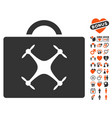 drone toolbox icon with lovely bonus vector image vector image