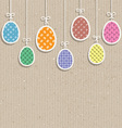 easter eggs on cardboard texture 0803 vector image vector image