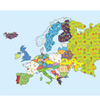 Europe map funny design with pattern vector image