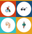 flat icon handicapped set of injured audiology