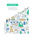 Food Track - line design brochure poster template vector image vector image