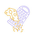 grating cheese icon line vector image