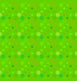 green abstract seamless circle pattern background vector image vector image