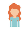 half body faceless woman with long wavy hair in vector image