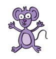 Happy mouse cartoon art vector image